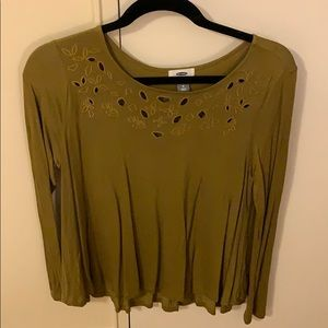 Old Navy Olive Top